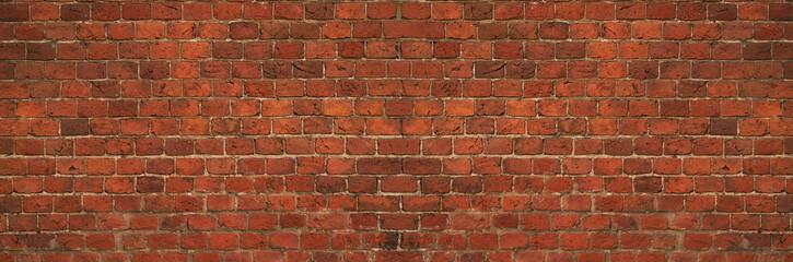 horizontal old brick wall