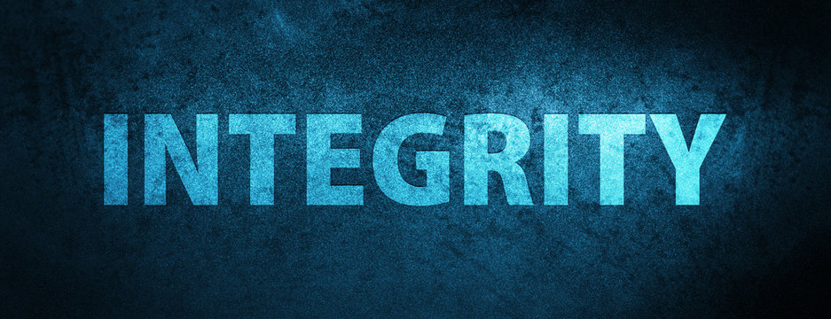 Integrity special blue banner background