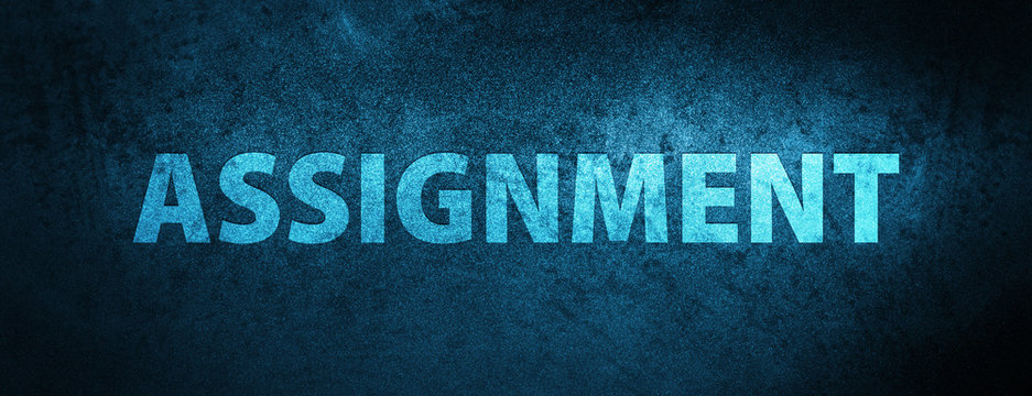 Assignment special blue banner background