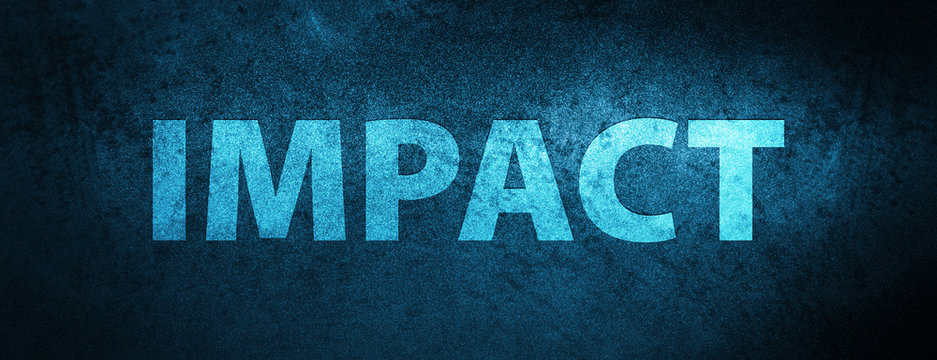Impact special blue banner background