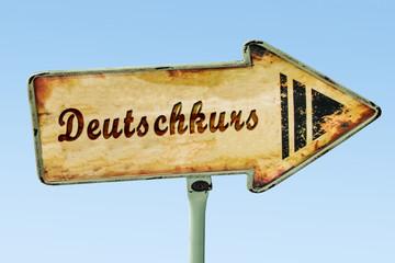 Schild 328 - Deutschkurs