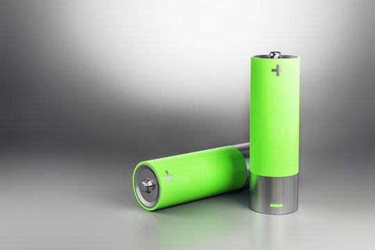 Abstract green battery
