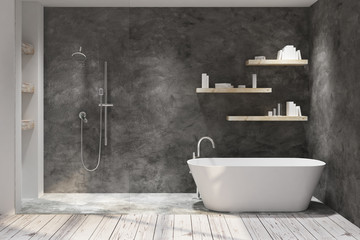 Wall Mural - Dark bathroom interior
