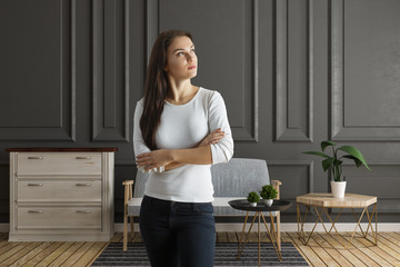 Attractive woman in meeting room