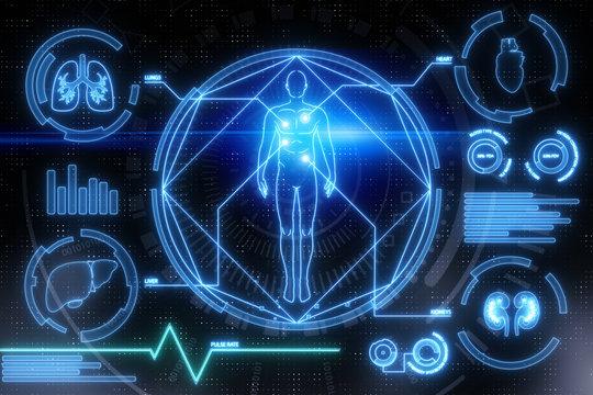 Digital medical interface background