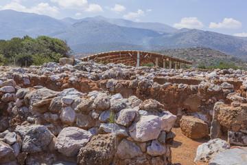 Site archéologique, le palais minoen de Malia en Crète - Grèce