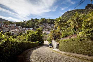Favela in Cosme Velho district of Rio de Janeiro, Brazil