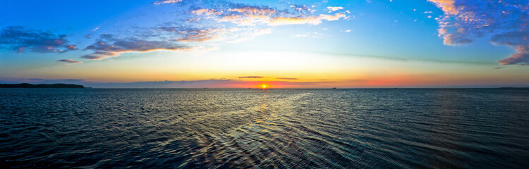 Panorama of Sunrise at the Baltic Sea - Poland