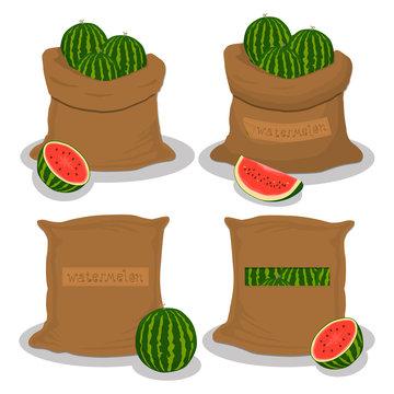 Sacks with natural food