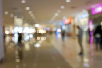 Bokeh photo in the shopping mall.
