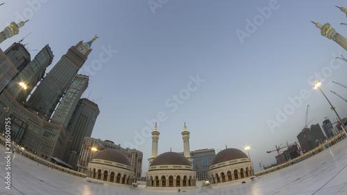 Skyline with Abraj Al Bait (Royal Clock Tower Makkah) (left