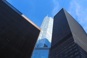 Foto auf Leinwand An der Decke Grattes-ciel / skyscrapers