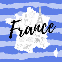 map of france with symbols
