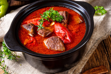 A real Hungarian goulash with beef and paprika Wall mural
