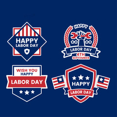 Labor Day Vector Logo for banner