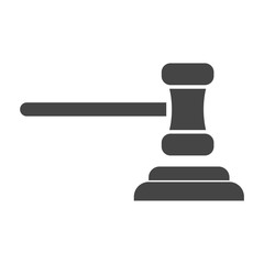 Gavel judge vector illustration in flat style