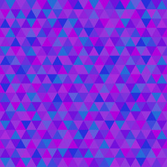 Triangle pattern. Abstract geometric wallpaper of the surface. Seamless cute background. Pretty colors. Print for polygraphy, posters, t-shirts and textiles. Beautiful texture