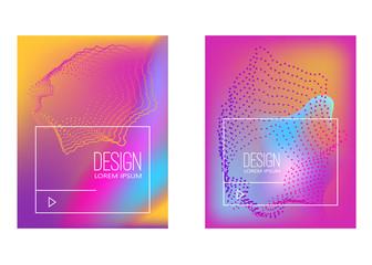 Abstract background with gradient waves and dynamic shape composition. Design element for poster, card, flyer,presentation, brochures,cover.
