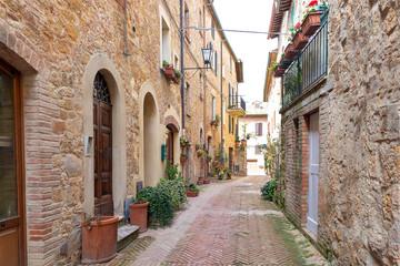 Street in Pienza, Tuscany