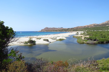 The beautiful Plage d'Ostriconi is one of the wildest beaches in Corsica