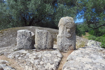 Filitosa prehistoric site with menhirs and dolmens, Corsica, France