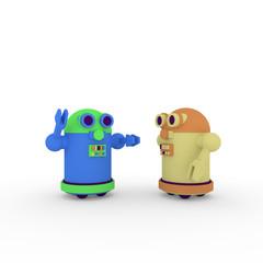 Fototapeta cartoon robots obraz