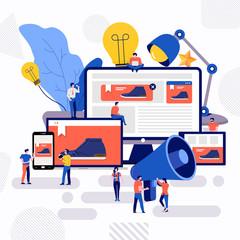 Obraz Teamwork creative advertising - fototapety do salonu
