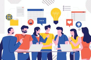 Teamwork business meeting