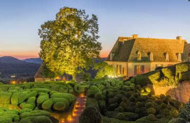Beautiful gardens at Chateau de Marqueyssac