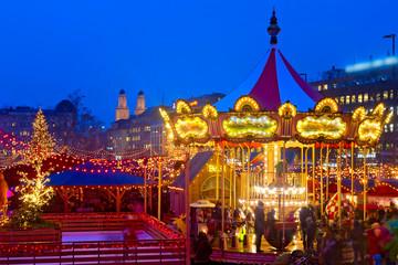 Weihnachtsmarkt in Zürich, Schweiz