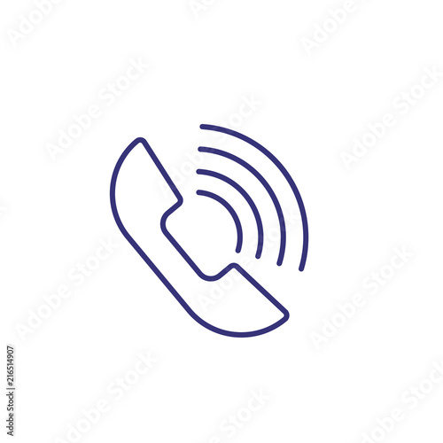 Phone talk line icon  Telephone, dialog, speech bubble