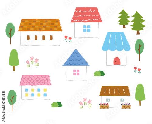 かわいい家のイラストアイコン素材 Stock Image And Royalty Free
