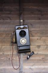 Teléfono antiguo londinense