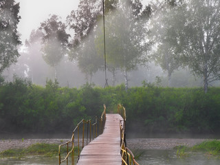 Morning fog on the river