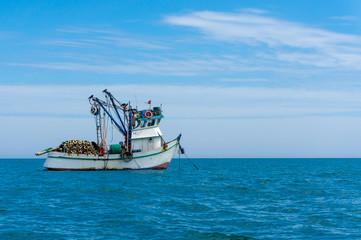 sea trawler in the pacific ocean