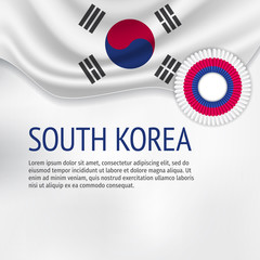 South Korea flag background. Flag of South Korea.