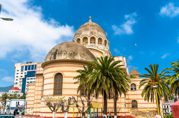 Sacred Heart Cathedral of Oran, currently a public library, in Oran, Algeria
