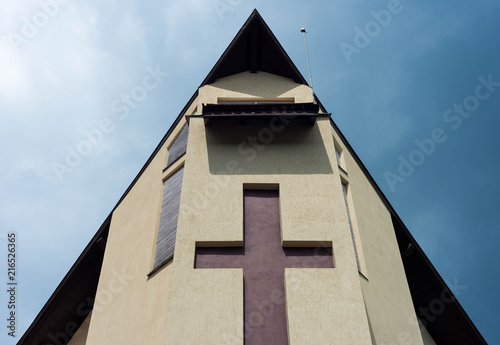 Modern Catholic Church Front View Stock Photo And Royalty