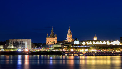 Cathedral of Mainz at night