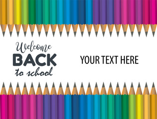Concept of Back to School Background Template