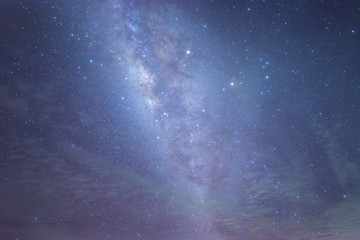 Abstract Milky way Galaxy for background. soft focus and noise due to long expose and high ISO.