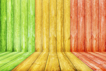 Wooden Background with Reggae color