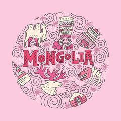 Hand drawn Mongolian Concept