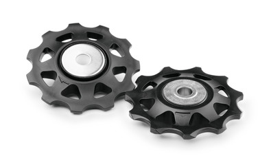 Gears for a bicycle isolated on a white