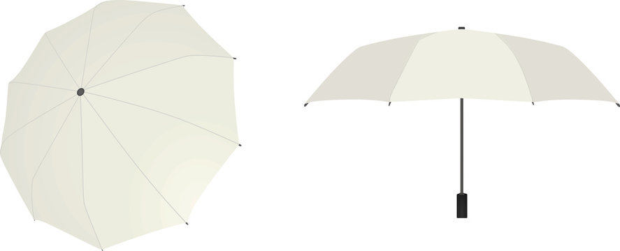 White umbrella. vector illustration