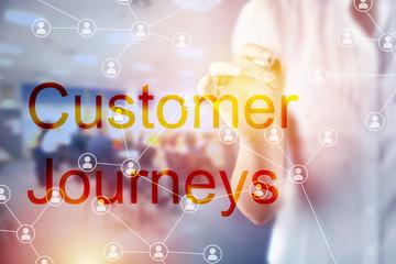Customer Journeys Business Concept