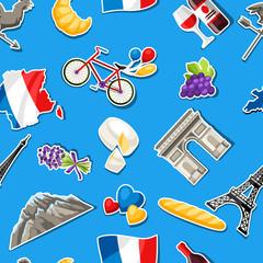 France seamless pattern.