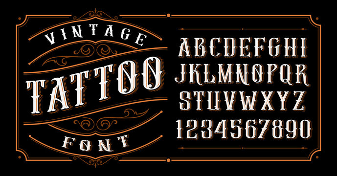 Vintage Tattoo Font.