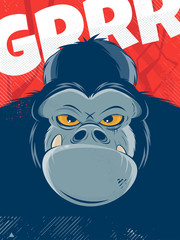 angry gorilla background