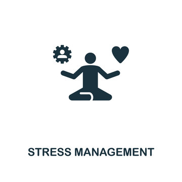Stress Management creative icon. Simple element illustration. Stress Management concept symbol design from soft skills collection. Perfect for web design, apps, software, print.